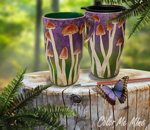 Edison Mushroom Mugs