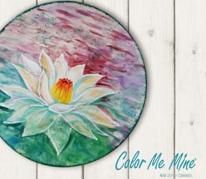 Edison Lotus Flower Plate