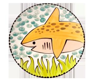 Edison Happy Shark Plate