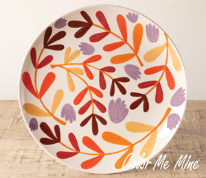 Edison Fall Floral Charger
