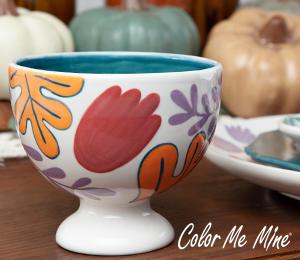 Edison Floral Pedestal Bowl