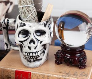 Edison Antiqued Skull Mug